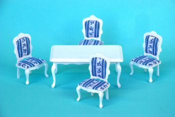 Wooden White Square Table Dinning Room Set