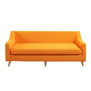Couch Sofa Seat Covers Stretch Slipcovers 4 Seater in Orange