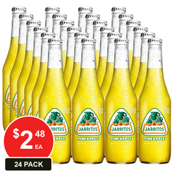 24 Pack, Jarritos 370ml Pineapple