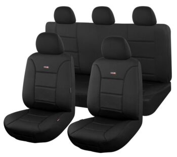 Sharkskin Ultimate Neoprene Seat Covers For Ford Ranger Pxii-Pxiii Series 2015-2020 Dual Cab | Black