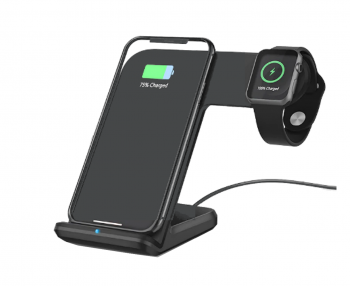 Dual Wireless Charging Dock Made for Apple (including iWatch) BLACK