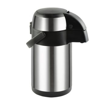 Airpot Stainless Steel Vacuum Insulated Pot Pump Flask 3L