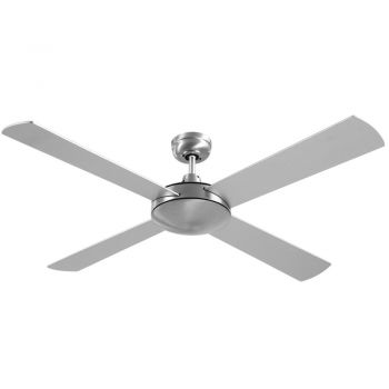 Devanti Ceiling Fan 52'' 1300mm Brushed Aluminum Finish 4 Blades Wall Controller