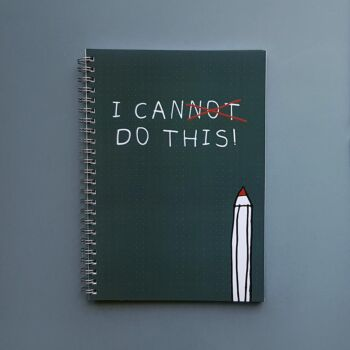 I can do this - Spiral dotted notebook 100 pages A5