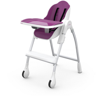 Oribel Cocoon High Chair Dining For Infant Toddler in Plum