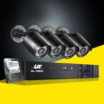 ULtech CCTV Camera Security System 1080P IP 4CH DVR Outdoor HD Night Vision 1TB