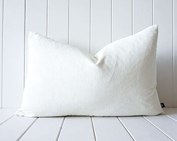 Indoor Cushion - Feather Insert - Off White Corduroy - 60x40