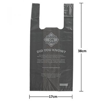 Bags on Board Hand Armor Dog Waste Pick up Bags - Extra Thick Handle Tie Bags - 100 Bags