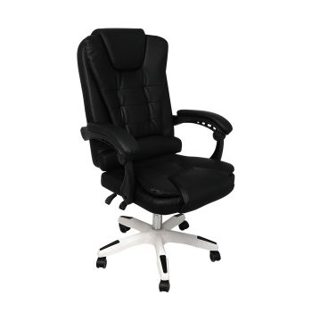 Exective Gaming Chair PU Leather Office Computer Seat Recliner in Black