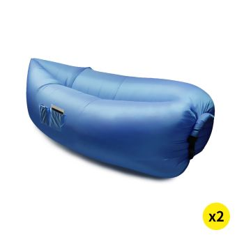 2 x Inflatable Swimming Pool Air Bag Sofa in Blue Colour