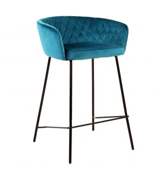 Cored Teal Kitchen Height Chair