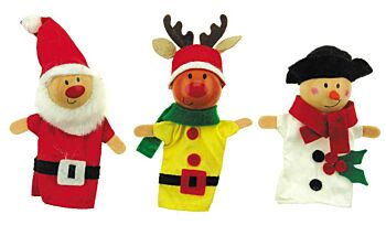 CHRISTMAS FINGER PUPPET SET OF 3
