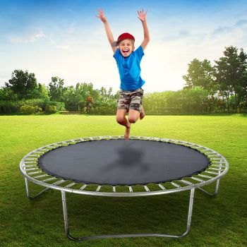 8FT Replacement Trampoline Mat Round Outdoor Spring Spare Special Design Loops
