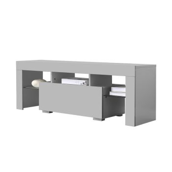 Levede TV Wooden LED Lowline Cabinet in Grey Colour