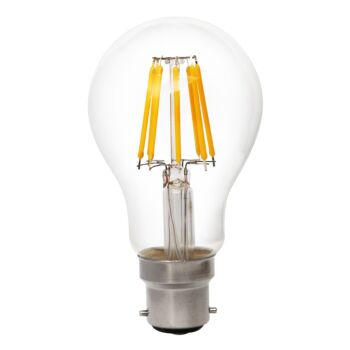 Globe LED Glass 8W 2700K Clear E27 Non-Dimmable