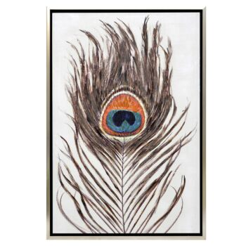 Pacific Peacock Enhanced Canvas Print