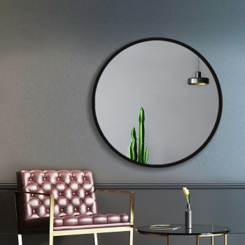 Embellir 60CM Wall Mirror Round Frameless Polished Bathroom Makeup Mirror