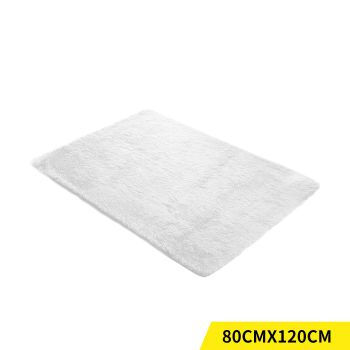 Designer Shaggy and Soft Home Decor Floor Rug 80x120cm in White