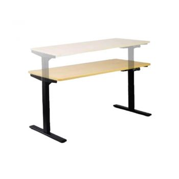 Lavery Electric Height Adjustable Office Desk - 150cm - Beech