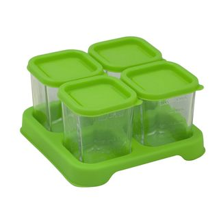 Fresh Baby Food Glass Cubes (4oz/4pk)-Green-Adult use only