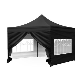 Mountview Pop Up Gazebo Outdoor Foldable Tent 3x3M in Black Colour