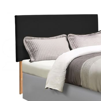 Levede PU Leather Bed Headboard with Wooden Legs in Queen Size in Black Colour