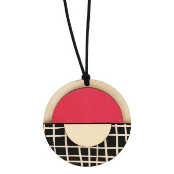 Geo circle pendant with pink