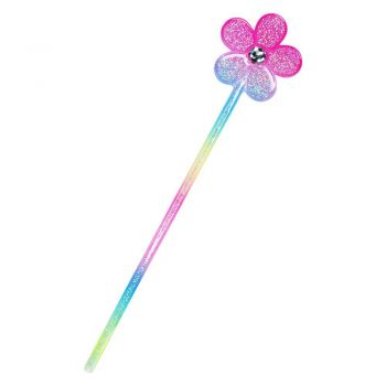 Large flower with glitter wand-multi