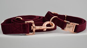 The Berry Velvet Collar & Leash Collection