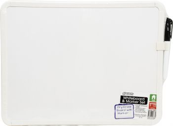 Whiteboard and Marker Set 36cm x 28cm