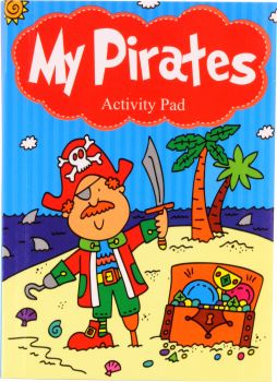 Book Activity Pad A6 96 Page Assorted