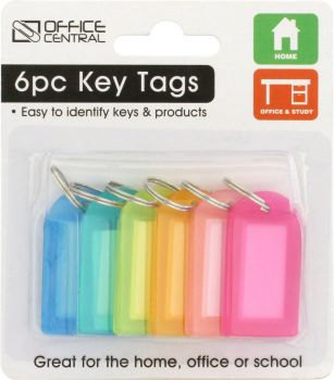 Key Tags Colour 4.7cm x 2.6cm 6pc