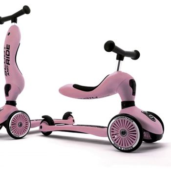 Scoot & Ride Highwaykick 1 2in1 Scooter Rose Pink 1.5Yr + Baby Toddler