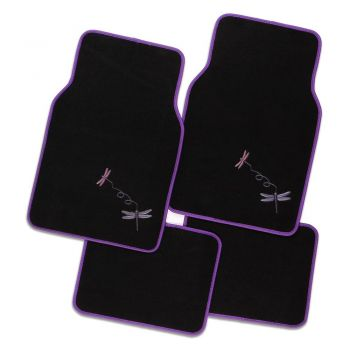 Dragonfly 4-Piece Car Mat - Purple
