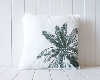 Outdoor Cushion - Coconut Palm Tree - Khaki - 45x45
