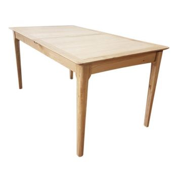 6IXTY Nordic Trend Extendable Oak Rectangular Dining Table - 160 To 210cm