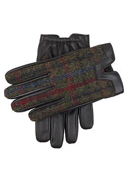 Men's Cashmere Lined Harris Tweed and Hairsheep Leather Gloves