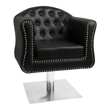 Glammar Manchester Styling Chair Black Square Base