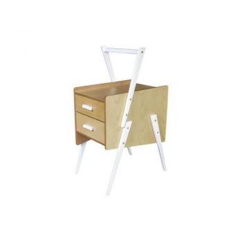Swing Side End Table - White