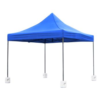 Mountview Foldable Pop Up Gazebo Canopy 3x3M & Base Pods in Blue Colour