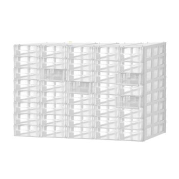 40 Multi Drawer Tool Storage Cabinet Nail Screw Organiser in White