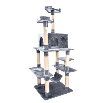 PaWz 1.83M Cat Scratching Post Tree Gym House Condo in Grey