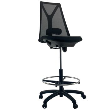 VOGUE MIDNIGHT Mesh Chrome Base Drafting Office Chair