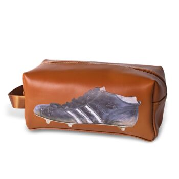 Three Stripe Boot Leather Toilet Bag