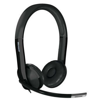 Microsoft LifeChat LX-6000 Plug & Play Headset with Inline Controls and Noise Cancelling Mic