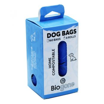 Bio-Gone Biodegradable Home Compostable Dog Waste Bags - 4 & 8 Rolls (80/160 Bags)