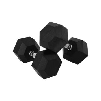 Verpeak Rubber Hex Dumbbell 10kgx2 Weight Home Gym Equipment Fitness Training Workout