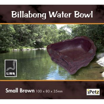 ULTIMATE REPTILE SUPPLIERS BILLABONG WATER BOWL BROWN SMALL