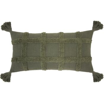 Percy Cushion 30 x 60cm Moss