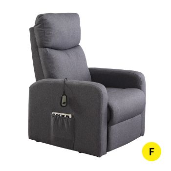 Levede Electric Reclining Lift Armchair Heated Massage Chair in Grey